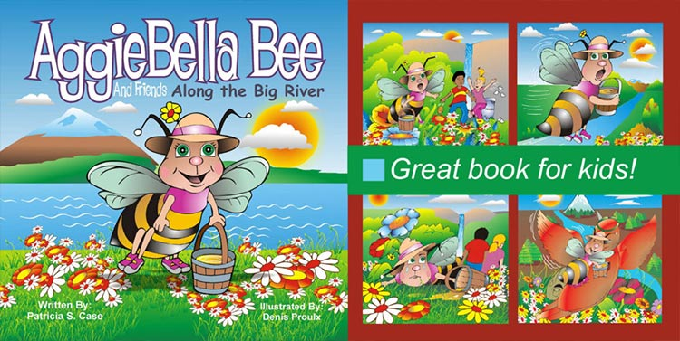 AggieBella Bee book pages